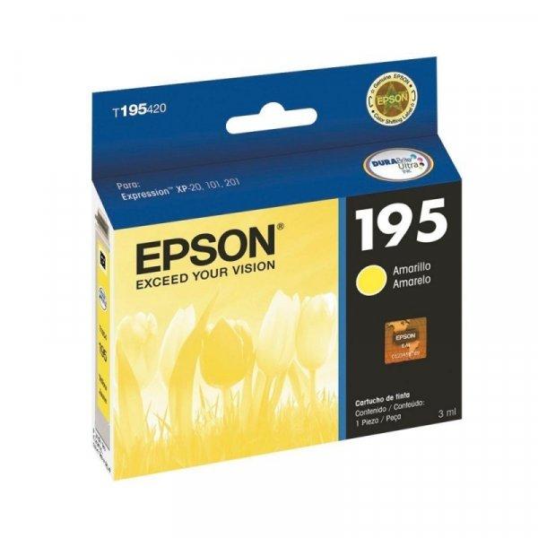 Cartucho de Tinta Epson 195 Amarillo T195420-AL