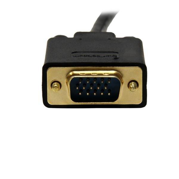Cable 1,8m de Vídeo Adaptador Conversor DisplayPort DP a VGA Convertidor Activo - 1080p Negro