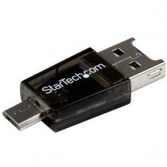 Lector de Tarjetas Startech Adaptador Micro SD a Micro USB OTG para Dispositivos Android