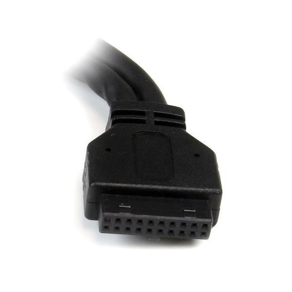 Adaptador Startech 2 Puertos USB 3.0 a IDC20 Header Cabezal Interno Placa Base - Negro
