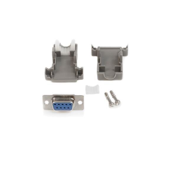 Conector D-SUB DB9 Serial Hembra Ensamblado con Carcasa Plástica