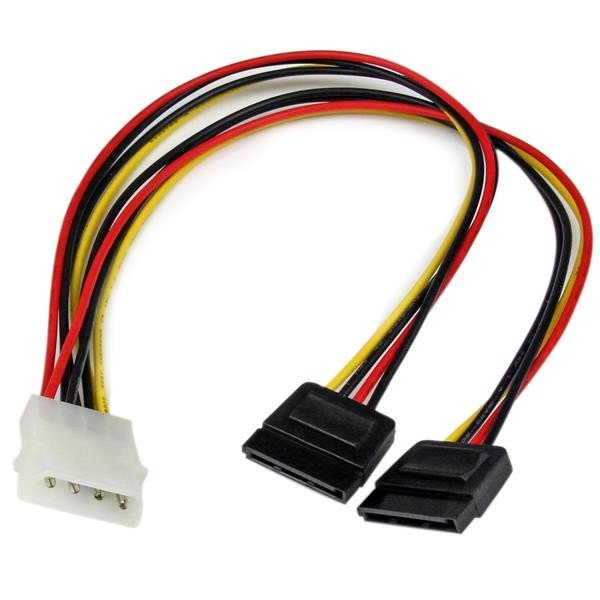 Adaptador Startech Divisor Molex 4 Pines a SATA - 2x Hembra SATA y 1x Macho LP4