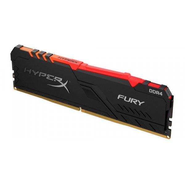 Memoria RAM HyperX Fury RGB 8GB 3200 MHz DDR4 CL16 DIMM XMP BLACK