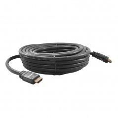Cable HDMI 10M. M/M, V1,4,  Conector Metalico Negro, Baño Oro, 28AWG