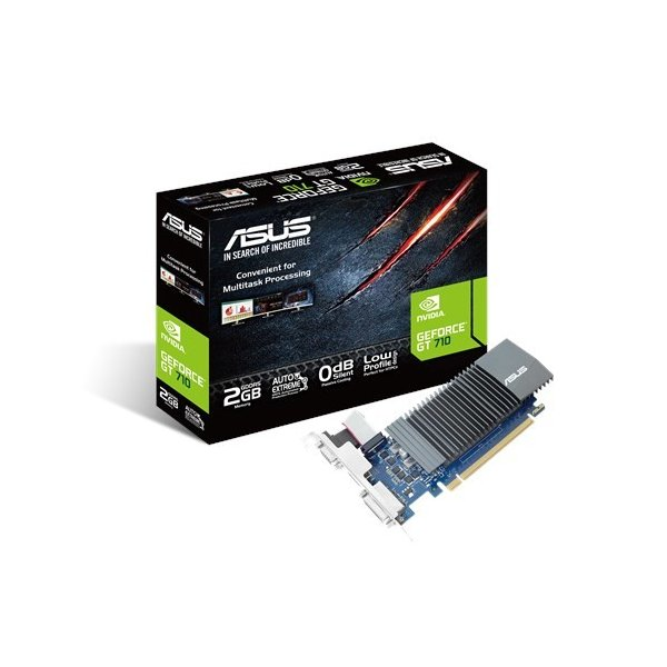 Tarjeta de Video Asus GT710-SL-2GD5 GF GT 710 2 GB GDDR5 HDMI/DVI/VGA
