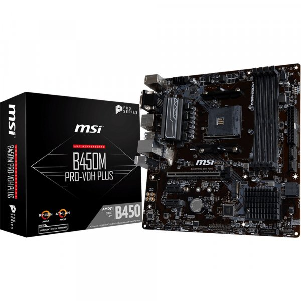 Placa Madre MSI B450M PRO-VDH PLUS AMD MATX