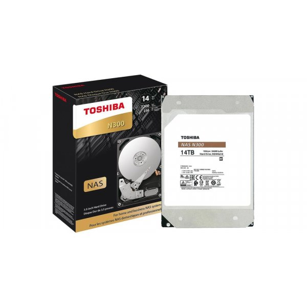Disco Duro Toshiba 14TB NAS N300 7200 RPM, 256MB Cache